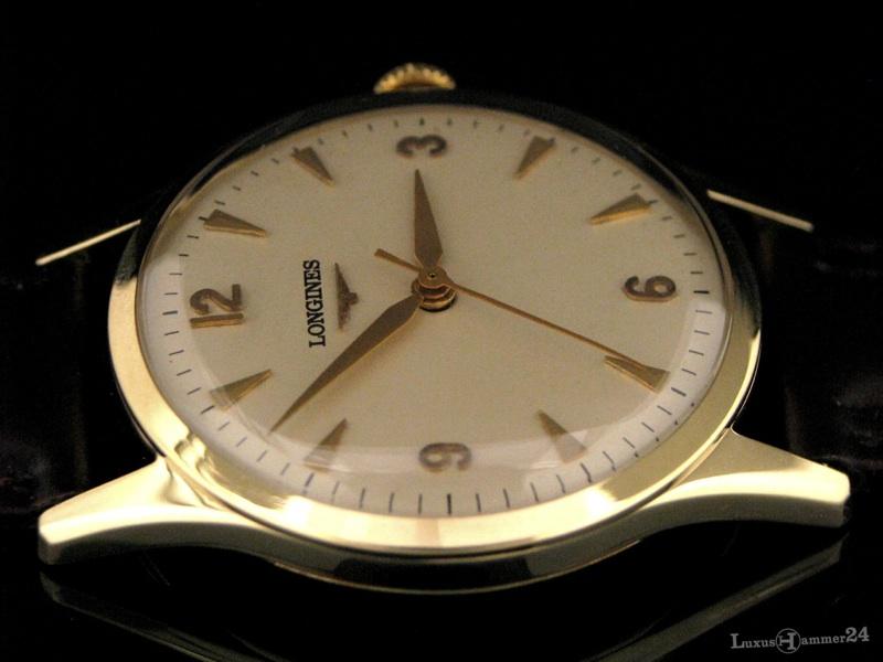 longines herren armbanduhr in 585er gold ebay. Black Bedroom Furniture Sets. Home Design Ideas