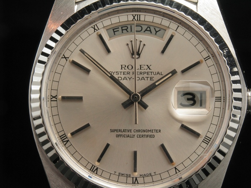 rolex day date president wei gold ebay. Black Bedroom Furniture Sets. Home Design Ideas